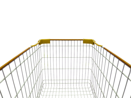 trolly: shopping cart isolated on white background