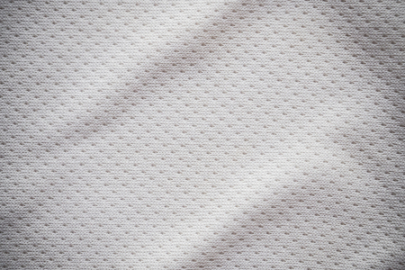 White sports jersey fabric texture background Stock Photo - 72636777