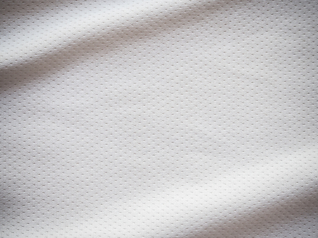 White sports jersey fabric texture background