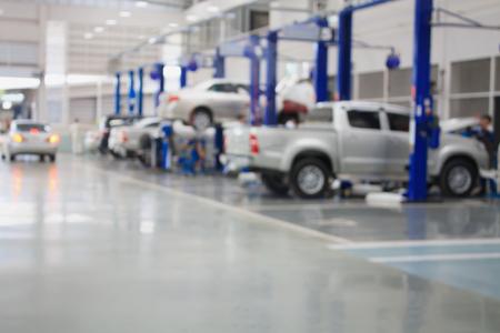 car repair service center blurred background Foto de archivo