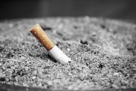 Tobacco Cigarette butt, stop smoking concept