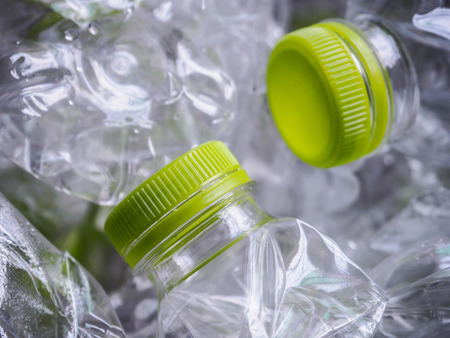 discarded: plastic bottles recycle background concept