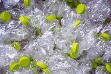 plastic flessen recycle achtergrond concept