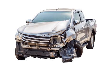 car crash accident isolated on white background Stock fotó