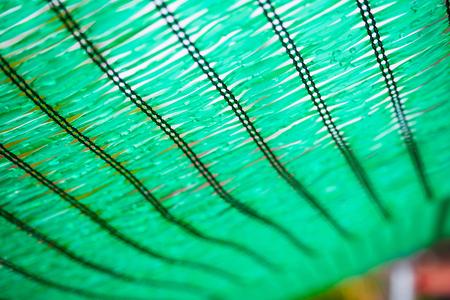 Close up Green Shading Net protect sun light Stock Photo