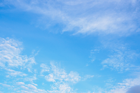 blue sky with clouds nature abstract background Stock Photo