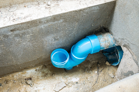 Anti Odor U Trap Sewer Pipe Of The House For Protect Bad Smell Photo