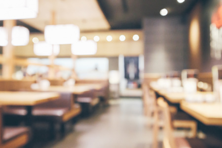 abstract blurred cafe restaurant with bokeh lights defocused background