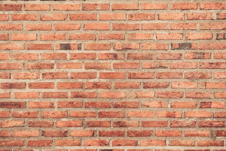 old vintage retro grunge red brick wall texture background