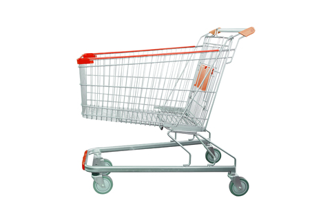 shopping cart isolated on white background Фото со стока - 101485925