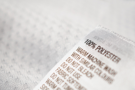 Polyester fabric Clothing label with laundry instructions