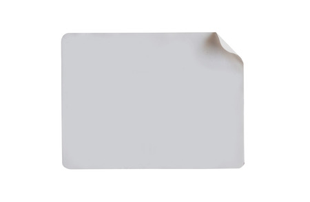 Sticker label isolated on white background with clipping path
