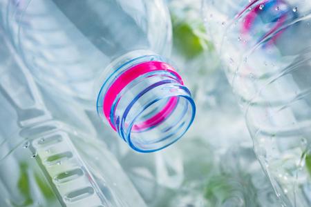 plastic bottles recycling background concept Фото со стока