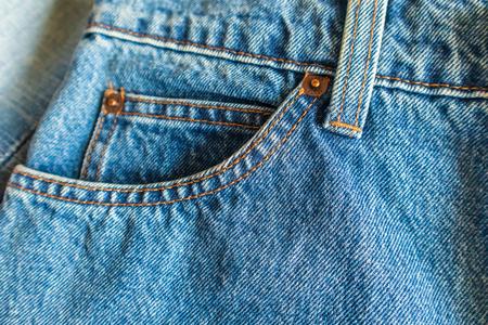 Jeans pocket close up background