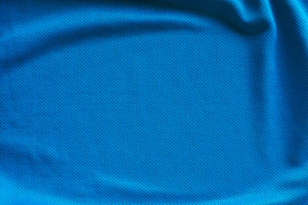 Blue fabric sport clothing football jersey with air mesh texture background Standard-Bild - 122274002