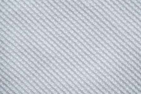 White fabric sport clothing jersey texture background