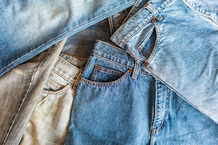 many denim blue jeans background Zdjęcie Seryjne