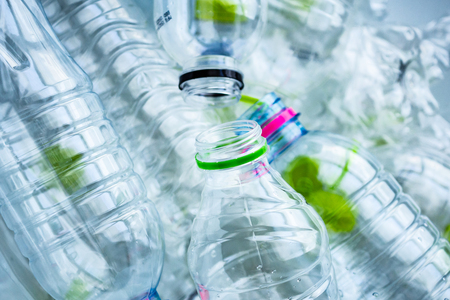 plastic bottles recycling background concept Zdjęcie Seryjne