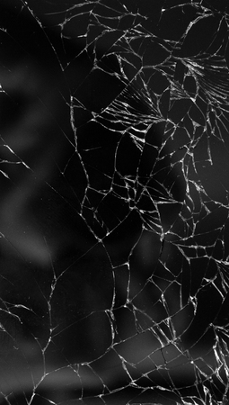 Broken glass texture background of mobile phone