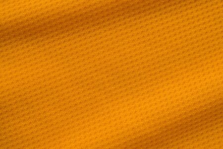 Orange color sports clothing fabric jersey football shirt texture top view Stockfoto