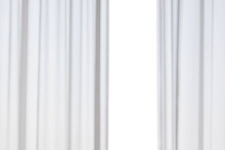 Abstract blur white curtains isolated on white background
