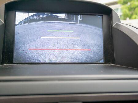 Car rear view video camera screen monitor display Zdjęcie Seryjne