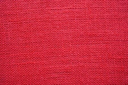 Red color linen canvas texture background