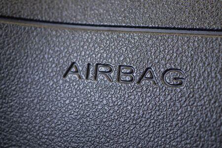 Safety airbag sign in modern car Zdjęcie Seryjne