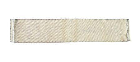 Blank laundry care clothing label isolated on white background