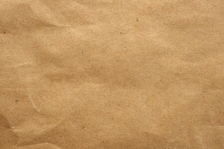 Old brown eco recycled kraft paper texture cardboard background Banco de Imagens