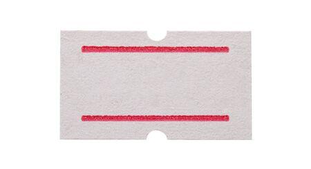 흰색 배경에 고립 된 백서 스티커 가격