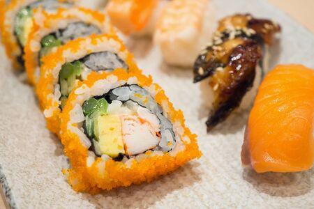 japanese sushi maki roll set Stock fotó