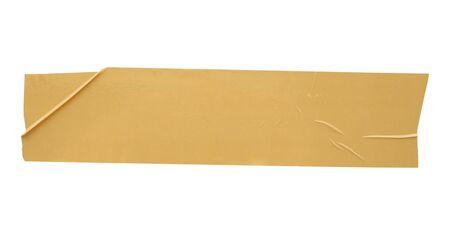 Cinta adhesiva marrón aislado sobre fondo blanco.