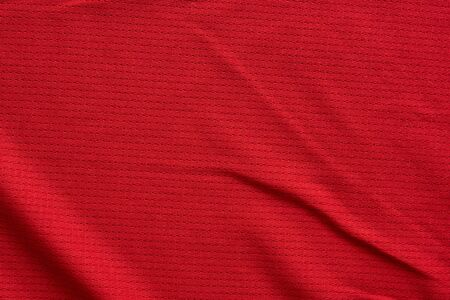 sports clothing fabric football jersey texture top view red color 스톡 콘텐츠