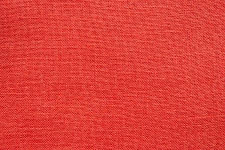 Red linen canvas fabric texture background 免版税图像
