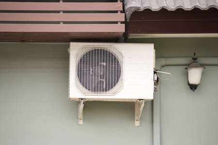 Air condition outdoor unit compressor install outside the house
