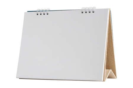 White blank paper desk calendar mockup isolated on white background 版權商用圖片