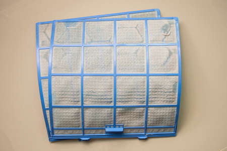 air conditioner filter with dirty dust Imagens