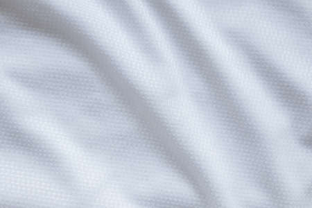 White sports clothing fabric football shirt jersey texture background