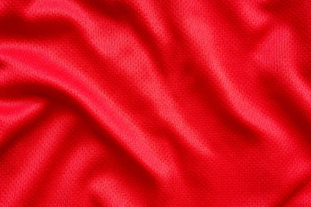 Red sports clothing fabric football shirt jersey texture background