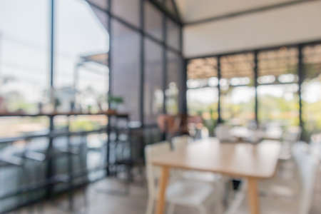 cafe restaurant interior blur for background