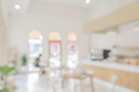 Coffee shop or cafe restaurant interior blur for background Reklamní fotografie