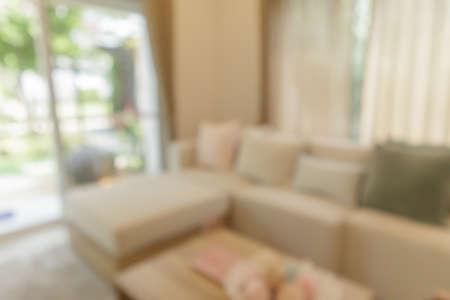 living room interior blurred background