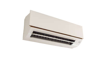 Air conditioner isolated on white background Banco de Imagens