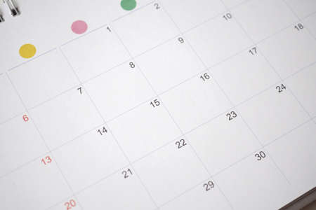 calendar page date background business planning appointment meeting concept