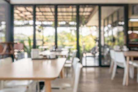 cafe restaurant interior blur for background Standard-Bild