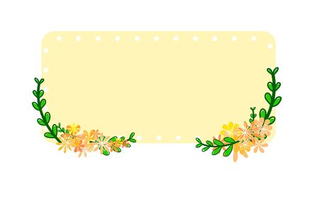 frame floral hand drawn on white background.