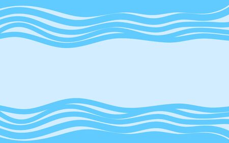 Abstract Sea waves background. vector illustration
