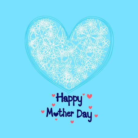Mother's day with heart background. vector illustration
