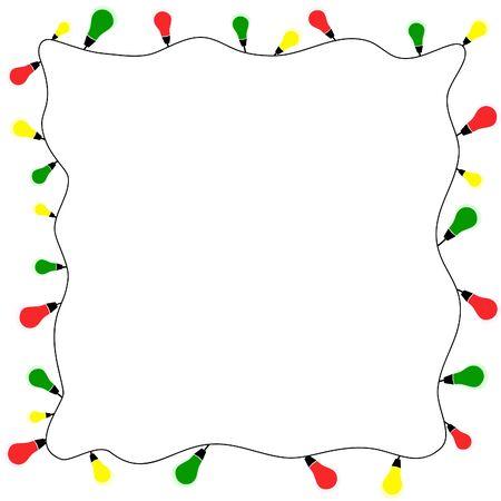 Christmas lights background. Vector illustration.